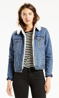 20 Fashion Gift Ideas We Love - Holiday 2016 - Authentic Sherpa Trucker Jacket, Denim, $148; at Levi's | Sponsored by Levi's | Gifts for HER