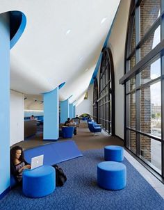 Jsa Wins Ala Iida Library Interior Design Award Photographs By Peter Aaron Color Pinterest