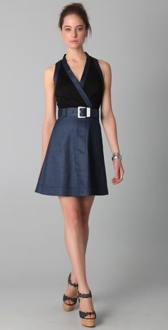 VIKTOR & ROLF Belted Wrap Dress - StyleSays