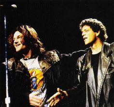 Bono (U2) and Lou Reed, On Stage!