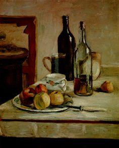1896. Henri Matisse. Nature morte aux deux bouteilles Huile sur Toile. 73x60 cm