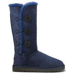 Discontinued UGG Boots Sale | Bailey Button Sheepskin Triplet Hot Sale Boots 1873 Navy Womens UGG