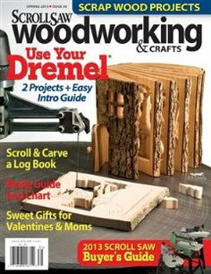 Scroll Saw Woodworking & Crafts - Spring 2013 - Issue 50 by Mindy Kinsey. $7.99. Publisher: Fox Chapel Publishing (2013). Publication: 2013. Scroll Saw Woodworking & Crafts Magazine Spring 2013 - Issue 50 Includes the 2013 Scroll Saw Buyers Guide, Blade Guide and Chart, Valentine Gift ideas, Scrap Wood Projects, and much more.                                                         Show more                               Show less