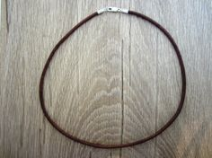 Mens Leather Cord Necklace  Pure Sterling by SterlingSilverUSA, $15.75