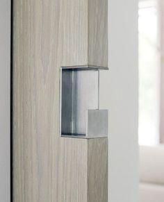 sliding door pull detail