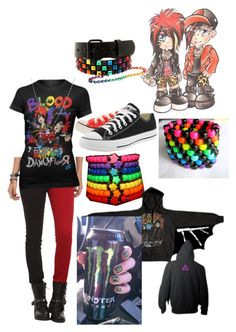 Blood On The Dance Floor by emolover323 on Polyvore featuring polyvore мода style Converse fashion clothing