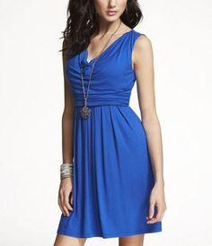 express drape-neck sash-tie dress. $70 (polyester)