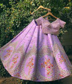 Ideas Embroidery Designs Fashion Indian Skirts For 2019 Raw Silk Lehenga, Red Lehenga, Party Wear Lehenga, Lehenga Choli, Purple Lehnga, Choli Dress, Saree Blouse, Anarkali, Indian Wedding Outfits