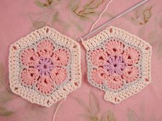 African Flower Hexagon Join-as-you-go Tutorial