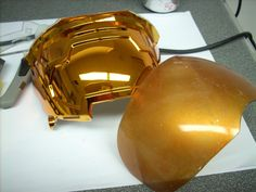 How to make & paint see through visor. #propmaking