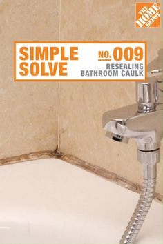 Caulk resealing: an easy bathroom refresh to tackle while at home - Cleaning Hacks Home Depot, Diy Kitchen Remodel, Diy Home Repair, Simple Bathroom, Clean Bathroom Grout, Bathroom Caulk, Home Repairs, House Cleaning Tips, Cleaning Hacks