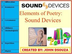 Poster making lesson resources learning objectives differentiate sound poetic devices 3 identify and give examples for sound poetic devicesis resource includes1 detailed lesson plan on sound devices2 urtaz Choice Image