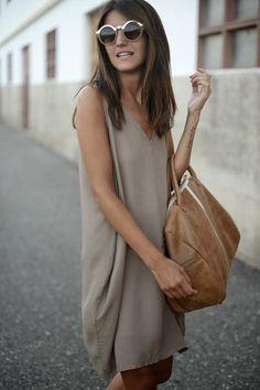 Single Tone Sleeveless Summer Dress