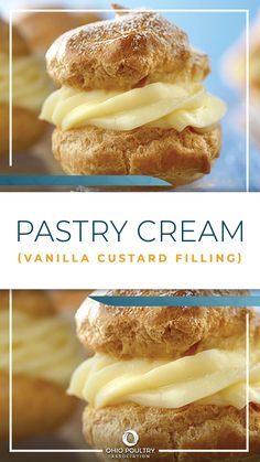 Rich vanilla pastry cream is the classic filling for cream puffs. Cream Puff Filling, Cream Puff Recipe, Custard Filling, Cream Recipes, Vanilla Pastry Cream Recipe, Vanilla Custard, Italian Pastry Cream Recipe, Cake Filling Recipes, Puff Pastry Recipes