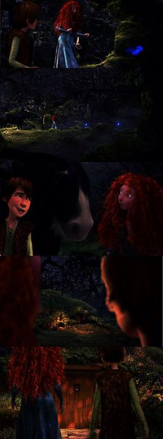 Merida: why would the whisps bring us here? Hiccup: maybe it's a place to hide?
