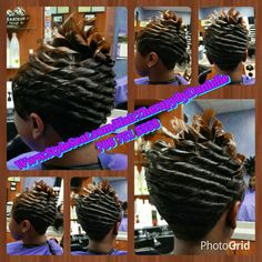 Relaxed Hair Short Cut With Spike Like Freeze Curls