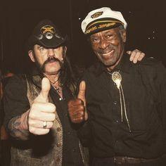 Lemmy Kilmister and Chuck Berry. (R.I.P. Lemmy)