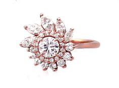 Rose Gold and White Sapphires, $2350.00