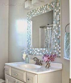 Espejos de ba o para marcos en pinterest espejos de ba o - Espejos biselados para banos ...