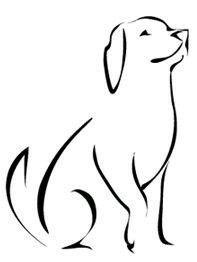 liegender freundlicher hund - skizze | henna und tattoo