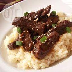 Rezeptbild: Scharfes mongolisches Rindfleisch aus dem Wok