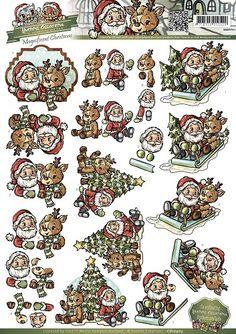 3D Knipvel - Yvonne Creations -  Magnificent Christmas - Santa and Rudolf