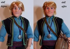 "Finally finished my LE Kristoff repaint. Base doll: Disneystore 17"" Limited Edition Kristoff doll. He has a full facial repaint with acrylic paints, her hair is retsyled slightly. He is wearing his..."