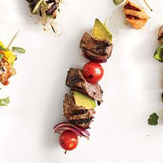 Steak and Avocado Kebabs ~ Cooking Light June 2014