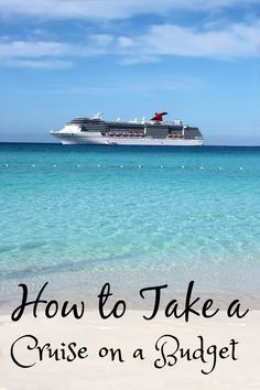 I'm going to share with you how to take a cruise on a budget or in other words how to cruise cheap! Plus I'll share my favorite sites for getting a deal!