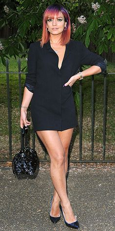 Last Night's Look: Love It or Leave It? | LILY ALLEN | There are minis and then there's what Lily is wearing: a very, very leg-baring LBD with an equally revealing neckline, seen at the Serpentine Gala in London.