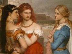 The Three Daughters of King Lear (Las tres hijas del rey Lear) by Gustav Pope (1875-6).   https://4.bp.blogspot.com/-GaJl8ZQt83c/VtQ0Or2UOgI/AAAAAAAAUCc/AG_zjO9vUO0/s1600/daughters%2Bof%2Blear.JPG
