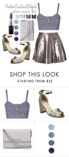 """""""TCS: I'm finally a STYLE SETTER (my 25th set) ♥"""" by tribecalledstyle ❤ liked on Polyvore featuring Topshop, Manolo Blahnik, MICHAEL Michael Kors, Luv Aj, Terre Mère and MAC Cosmetics"""