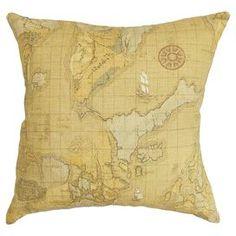 Fujita Map Pillow