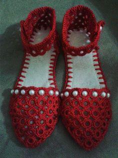Irish crochet &: Обувь и другие изделия из цепочки колец. МК. step by step