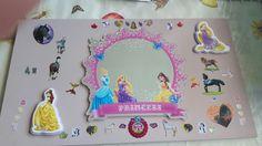 Spiegel prinses en paard (krijtverf) versierd door mijn nichtje