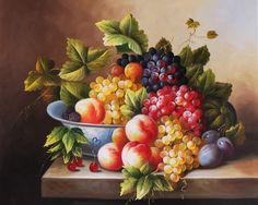 frutas pintadas - Pesquisa Google