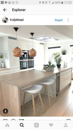 Modern butcher block Modern butcher block The post Modern butcher block appear. Modern butcher block Modern butcher block The post Modern butcher block appeared first on Esszimmer ideen. Open Plan Kitchen Living Room, New Kitchen, Kitchen Dining, Kitchen Decor, Dining Rooms, Kitchen Diner Extension, Sweet Home, Scandinavian Kitchen, Küchen Design