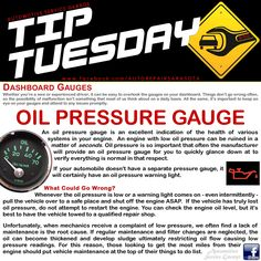 Car Care Tip: Low oil pressure? It is imperative that you deal with the causes immediately. If you insist on driving blind and deaf to the obvious warnings coming from under your car's hood or dashboard (gauges & lights), the next sound you hear may be a rapping or knock noise from the rod bearings - which will eventually be followed by dead silence as your engine seizes and your car coasts to a dead stop. ll Auto Repair - Automotive Service Garage - Sarasota, FL…