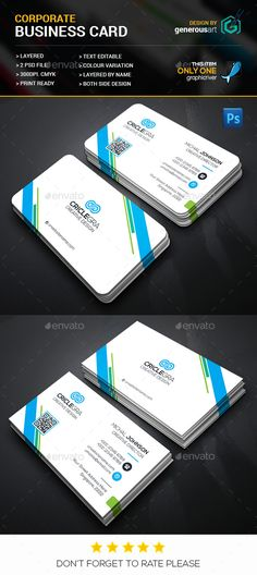 Circle Corporate Business Card Template PSD #design Download: http://graphicriver.net/item/circle-corporate-business-card/14136438?ref=ksioks