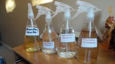 Various Scents in Spray Bottles. Make your own flavors.