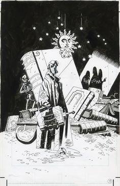 Mike MIGNOLA - Hellboy Enigma Comic Art