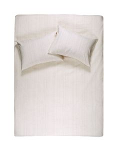 Shell Rose Pinstripe Linen Duvet Covers / Pillows and Fitted Sheets - Yarn Dyed