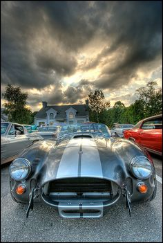 I wonder if they ordered the weather to match their car?-  Shelby Cobra HDR  Cobra (by Syncharmony)  Repin & Follow my pins for a FOLLOWBACK!