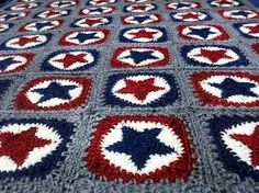 Captain America Crochet Afghan Pattern