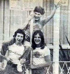 Bon, Angus and Mark 1976