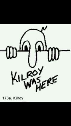 "Large 11/"" Kilroy was here die cut vinyl decal sticker car window old school"