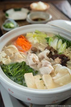 Soy Milk Hot Pot (Tonyu Nabe 豆乳鍋)   Easy Japanese Recipes at JustOneCookbook.com