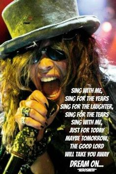 ☯☮ॐ American Hippie Psychedelic Classic Rock Vintage  Aerosmith, Dream On Lyrics