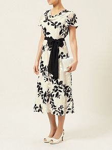 Shadow Floral Devore Dress