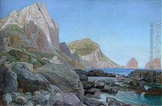 Carl Frederik Aagaard Mediterranean Shipping (also known as 'Capri with the Faraglione') - The Largest Art reproductions Center In Our website. Low Wholesale Prices Great Pricing Quality Hand paintings for saleCarl Frederik Aagaard Oil Painting Gallery, Oil Painting On Canvas, Canvas Art Prints, World Famous Paintings, Famous Artists, Odense, Paintings For Sale, Oil Paintings, Landscape Paintings